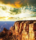 Grand Canyon on sunset — Stock Photo
