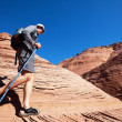 Stock Photo: Hike in canyon
