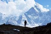 Hike in Himalayan — Stock Photo