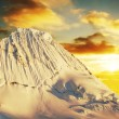 Alpamayo peak on sunset — Stock Photo