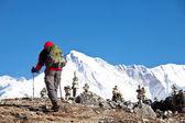Hike in Himalayan — Stock Photo
