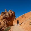 Hike in Bryce canyon — Stock Photo