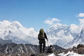 Wandelen in de himalaya — Stockfoto