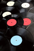 Background from old vinyl records — Stock Photo