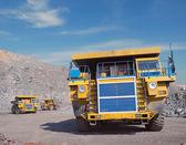 Три больших грузовиков — Стоковое фото