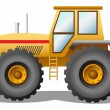 Stock Vector: Yellow tractor
