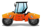 Orange road-roller — Stock Vector