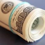 Roll of money — Stock Photo
