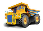 The big dump body trucks — Stock Vector