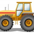 Royalty-Free Stock Vector Image: Yellow tractor