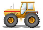Yellow tractor — Stock Vector