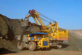 Loading of iron ore — Stock Photo