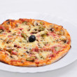 Stock Photo: Pizzin white bowl