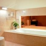 Washroom with big bathtub — Stock Photo