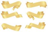 Horizontal golden banners — Stock Vector