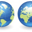 Stock Vector: Globes of Earth