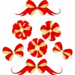 Stock Vector: Red bows