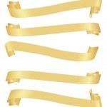 Long horizontal golden banners — Stock Vector #3092484