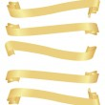 Long horizontal golden banners — Stock Vector