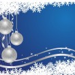 Royalty-Free Stock Vector Image: Blue x-mas background