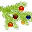 Royalty-Free Stock Vektorfiler: Christmas tree branch