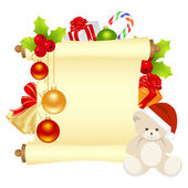 クリスマスの手紙 — ストックベクタ