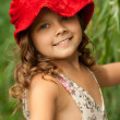 Royalty-Free Stock Photo: Girl in a red hat