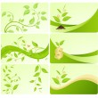Stock Vector: Eco cards