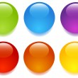Glass buttons — Stock Vector #3921055