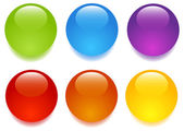 Glass buttons — Stock Vector