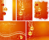 Set christmas backgrounds — Stock Vector