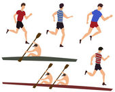 Sportsmans — Stock Vector