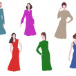 Stock Vector: Womand fashion