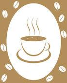 Coffee-beans — Stock Vector