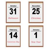 Sheets of a calendar — Stock Vector
