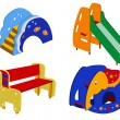 Stock Vector: Children's street furniture