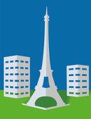 Turm in paris — Stockvektor
