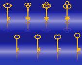 Yellow keys — Stock Vector
