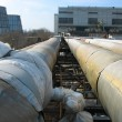 Stock Photo: Pipes, tubes, machinery at power plant
