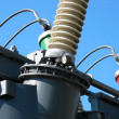 High voltage electric converter detail - Stock Photo