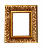 Gamla antika guld bildram med dekorativa mönster isolera — Stockfoto