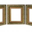 Three old antique gold picture frame with a decorative pattern i — Stock Photo #3903339