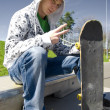Skateboarder conceptual image. — Stock Photo