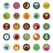 Nature badges — Vector de stock