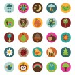 Nature badges — Stockvectorbeeld