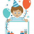 Boy party card — Stockvectorbeeld