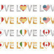 Love flags set 1 — Stock Vector #2759130