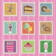 Cakes and sweets stamps — Stock Vector #2890970
