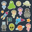 Space stickers — Stock Vector