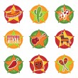 Mexican icons — Image vectorielle